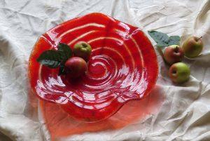 Öpfuschale in rot mit Spirale